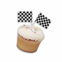 DecoPac Checkered Flag DecoPic Cupcake Picks