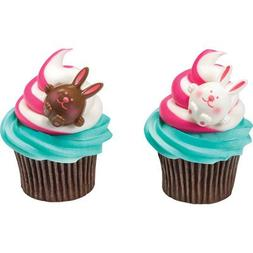 Easter Bunny Cupcake Rings - 24 pcs