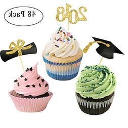 GLEIM Graduation Cupcake Toppers, Mini Cake Decorations for