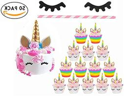 Hummingbirds Unicorn Cupcake Wrappers by Liners Cake Golden