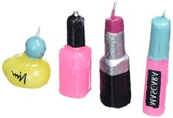 Make Up Girl Novelty Cake Candles - 4 pcs by Bakery Supplies