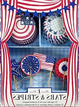 Meri Meri Cupcake Kits, Stars and Stripes