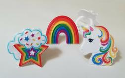 Unicorns and Rainbows Cupcake Rings - 24 pc