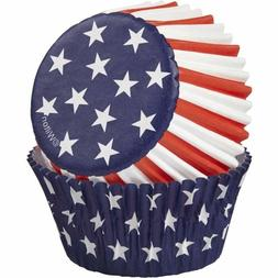 Wilton 415-2313 Patriotic Backing Cups, Standard, 75/Pack