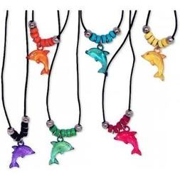 Fun Express Acrylic Dolphin Necklace with Jewel Eyes