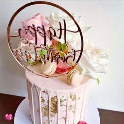 Acrylic Home Happy Birthday Decor Baking Cake Topper Card Pa