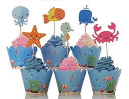 BeBeFun Adjustable Cupcake Wrappers and Toppers Under the Se