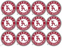 "Alabama Crimson Tide Cupcake Toppers Edible Image 2"" Frostin"