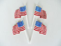 American Flag Cupcake Picks Cake Toppers Decorations 4th of