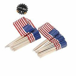 American Flag Picks Flag Toothpicks Cocktail Sticks Cupcake