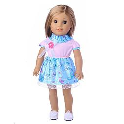 HIRIRI American Girl Doll Clothes Adorable Butterfly Flower