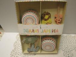 "Meri Meri 'Animal Parade"" NIB 24 Cupcake Cases & 24 Assorted"