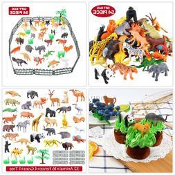 Animals Figure 54 Piece Mini Jungle Kids Toddler Toys PlaySe