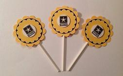 Army Cupcake Toppers Birthday Anniversary Baby Shower Party