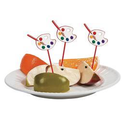 Fun Express Artist Party Cupcake Food Picks - 25 Pieces