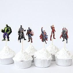 SXK Co. The Avengers Captain America Super Hero Cupcake Topp