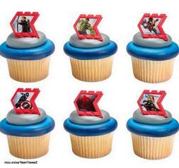 Avengers CupCake Cake Topper 12 18 24 Favor Decoration Birth