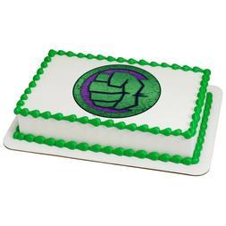 Avengers Incredible Hulk Edible Cake OR Cupcake Toppers Deco