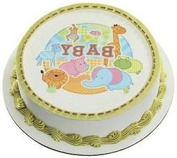 Baby Jungle Safari Animals Edible Cake OR Cupcake Toppers De