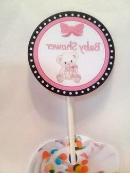 Baby Shower Cupcake Toppers Pink-Set of 24-handmade-It's a g