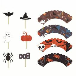 Baby Shower Food Sticks Halloween Decoration Cupcake Toppers