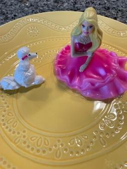 Barbie Cake Topper, Poodle Ring Cupcake Topper DecoPac Cake