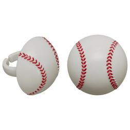 Baseball Cupcake Toppers Rings 12 pcs Party Favors MLB