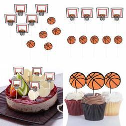 Basketball Sports Cupcake Toppers Cake Picks Decoration Birt
