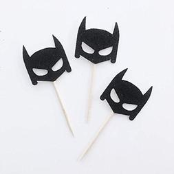 Batman Cupcake Toppers, Batman Party Decorations, Birthday B