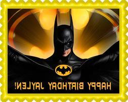Batman Yellow - Edible Birthday Cake Topper OR Cupcake Toppe