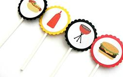 BBQ Cupcake Toppers - Set of 12