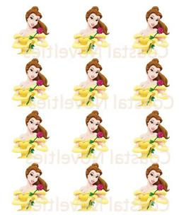 Beauty and the Beast Cupcake Toppers Edible Image Belle Cake