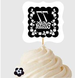 77th Birthday Anniversary Blessed Years Cupcake Decoraton To