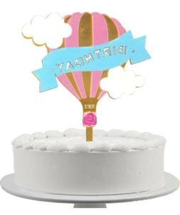 Birthday Hot Air Balloon Cake topper. Cake Decoration. Fun B