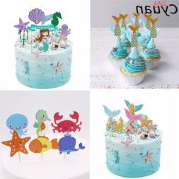 Cyuan Birthday Party Mermaid Theme Cake <font><b>Topper</b><