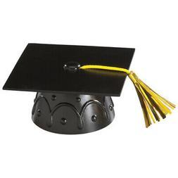 Black Graduation Cap Hat Cake Topper Kit Cupcake Candy Cooki