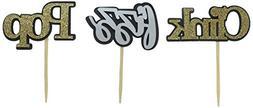 All About Details Black, Silver & Gold Pop Fizz Clink Cupcak