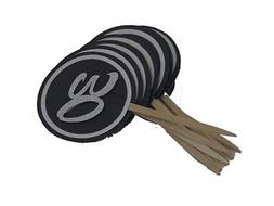 All About Details Black & White 30 Cupcake Toppers, Set of 1