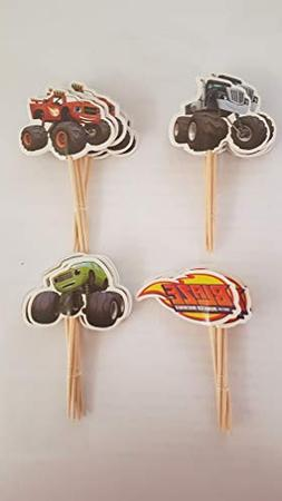 Blaze and the Monster Machines Assorted Cupcake Picks Set of