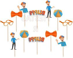 Blippi Cupcake Toppers 12 or 24 pc Birthday Party Supplies ~