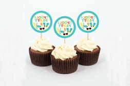 Boys Pool Party Cupcake Toppers Party Favor Tags Printable