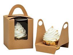 YoTruth Clear Bakery Rustic Brown Kraft Paper Single Cupcake