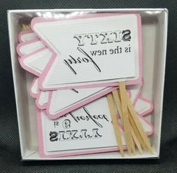 All About Details Bubblegum Pink 60th Birthday Quotes Cupcak