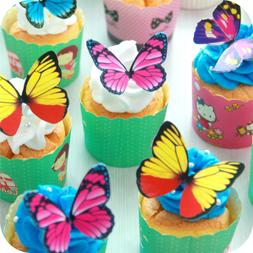 Butterfly cake Toppers 40Pcs Set, GUGUJI Chocolate Mousse Ca