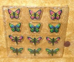 Butterfly,Dragonfly,Pastel Edible Sugar Soft Cupcake Toppers