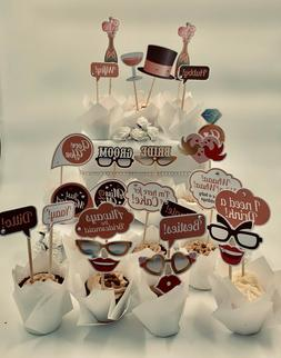 cake and food sticks toppers decoration wedding event buffet