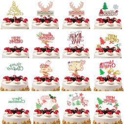 Cake <font><b>Topper</b></font> Flags Gillter Santa Claus Ca