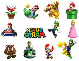 cake toppers characters of super mario cupcake