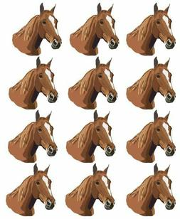 """Cake Toppers Horse Cupcake Toppers Edible Image 2"""" Frosting"""