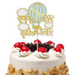 Cake Toppers Hot Air Balloon Cloud Cupcake Topper Cake Flags